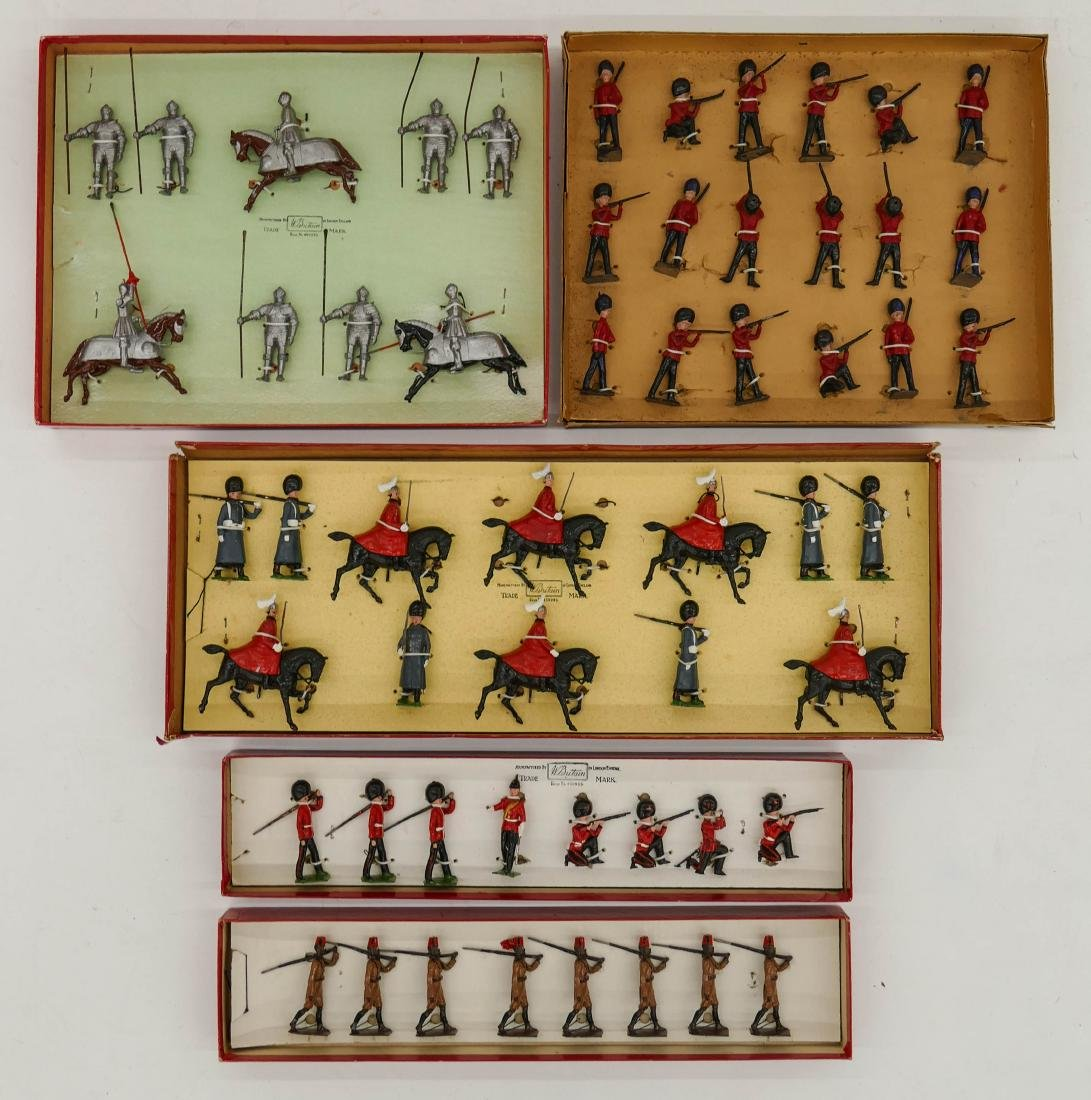 5pc Vintage Britains English Toy Soldier Sets in Boxes. - 2