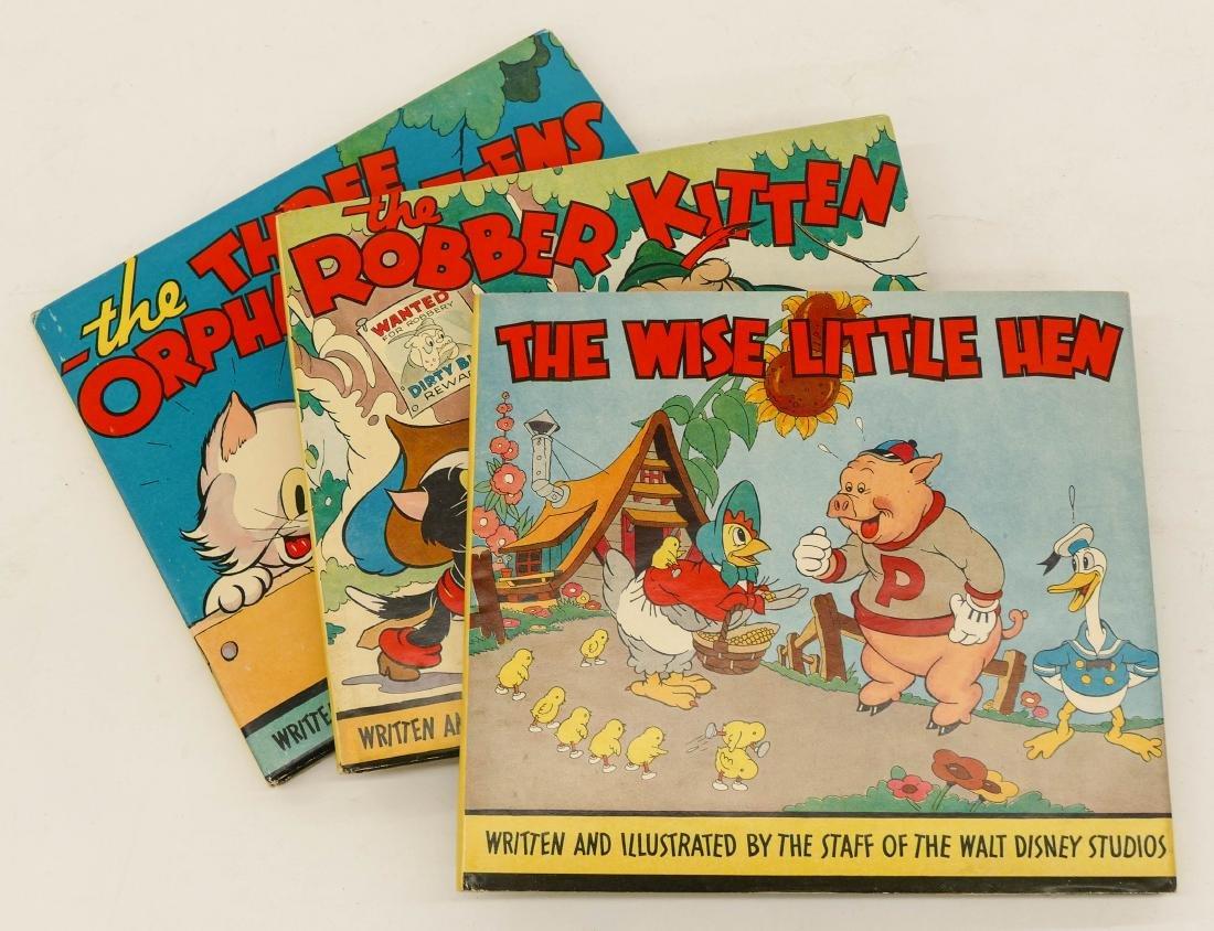 3pc 1930's Walt Disney Studios Children's Books with
