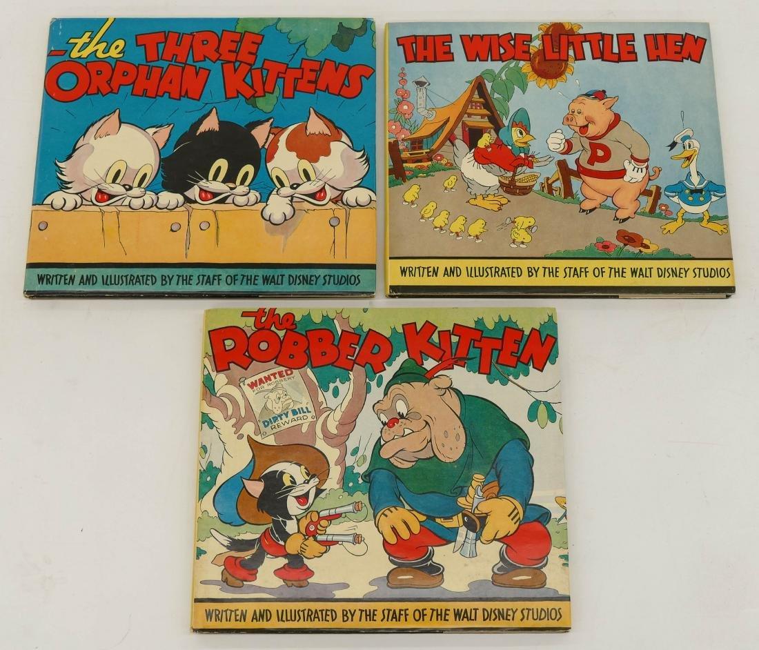 3pc 1930's Walt Disney Studios Children's Books with - 2
