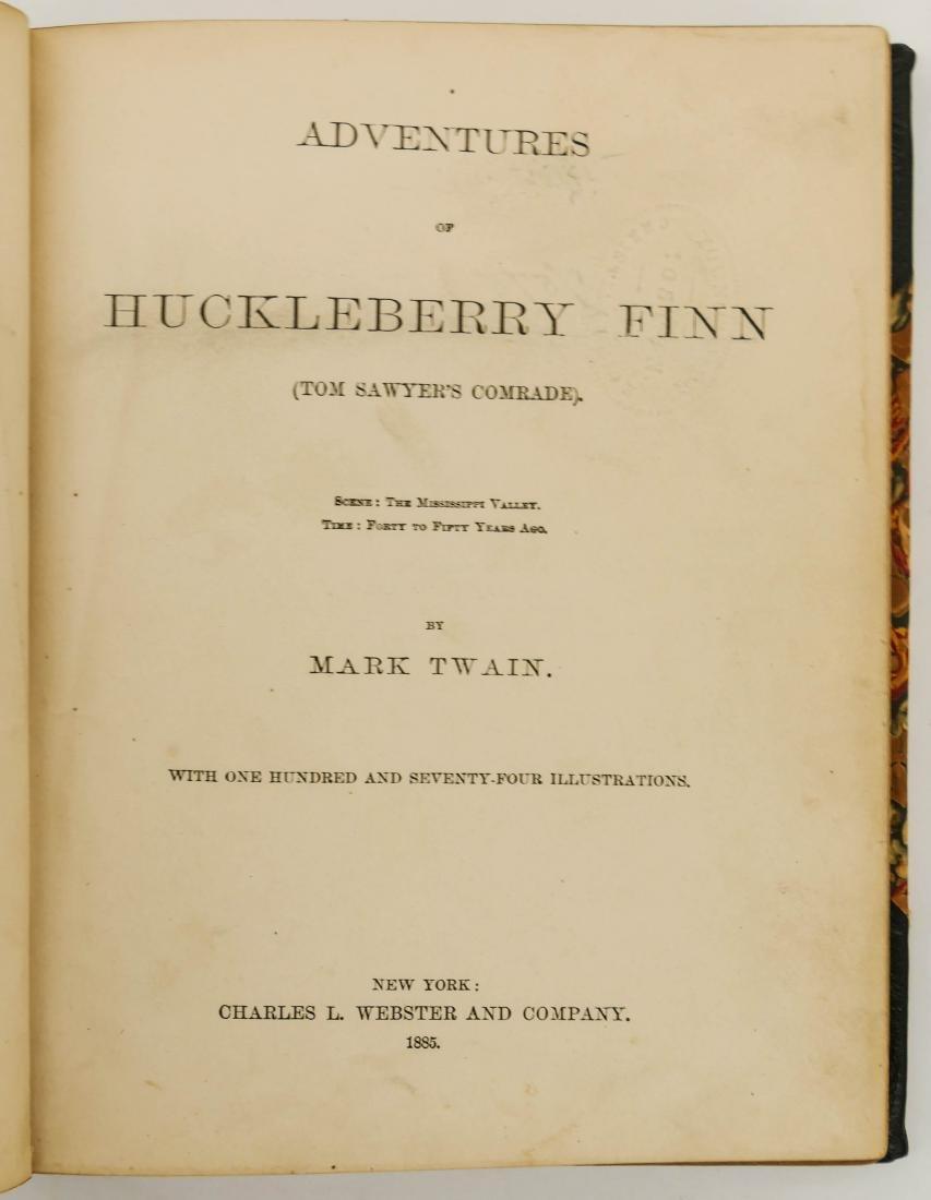 Mark Twain 1885 ''Adventures of Huckleberry Finn Book - 2
