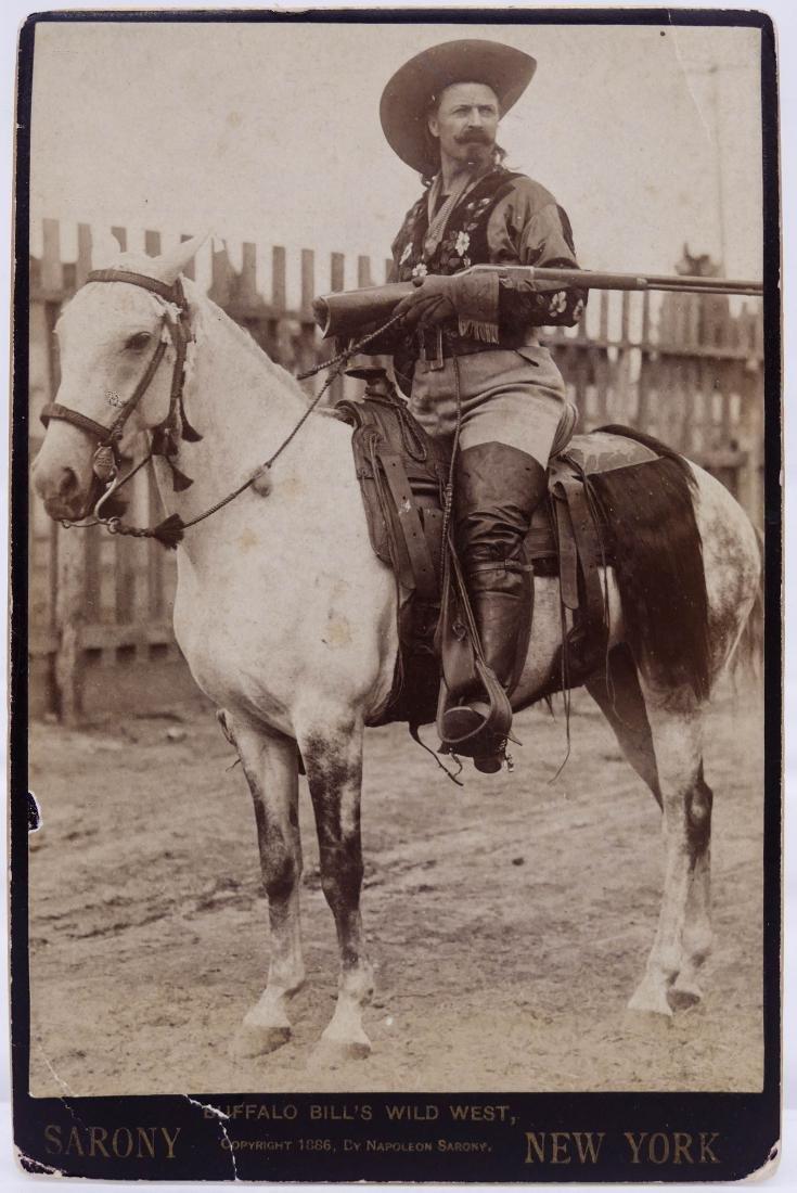 Antique Buffalo Bill Cody on Horseback Cabinet Card