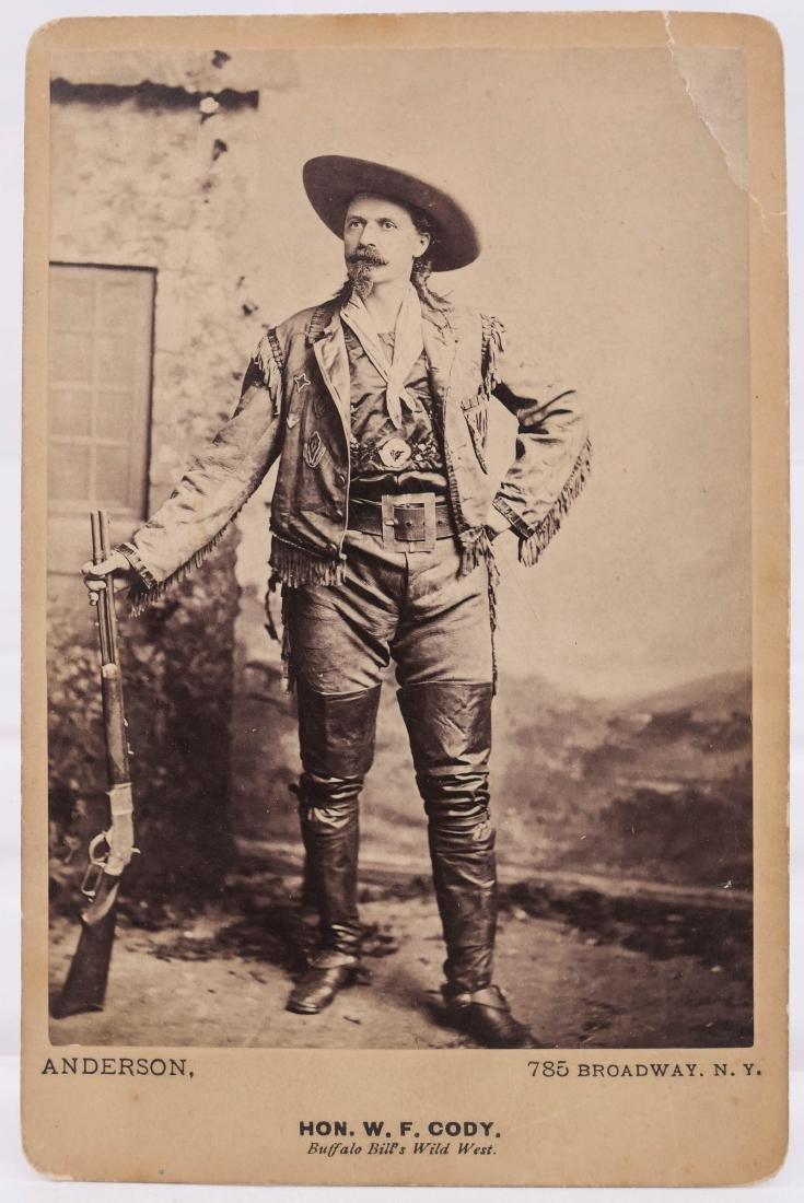 Antique Buffalo Bill Cody Standing Portrait Cabinet