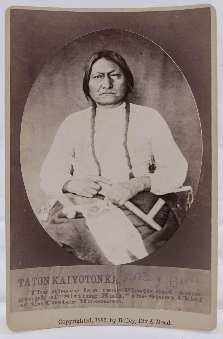 Antique Sitting Bull Cabinet Card by Bailey, Dix & Mead