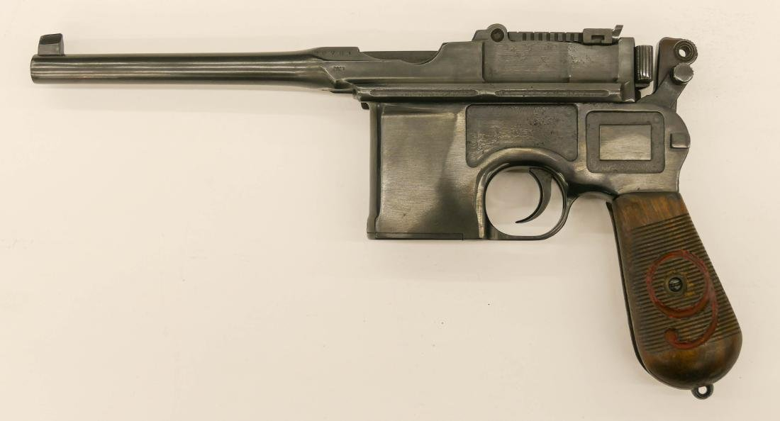 German Mauser C96 Broomhandle Red 9 Semi Automatic - 2