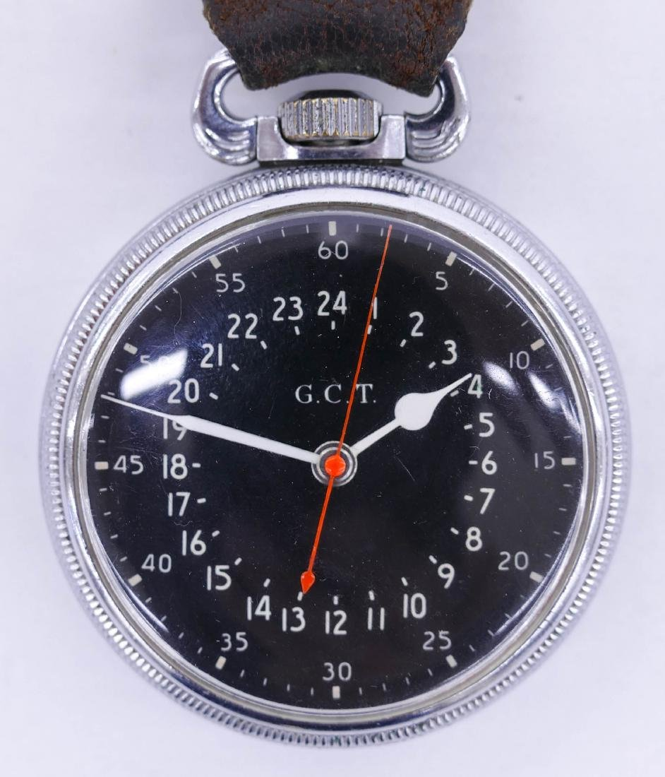Hamilton 4992B Military Pocket Watch with Leather Fob.