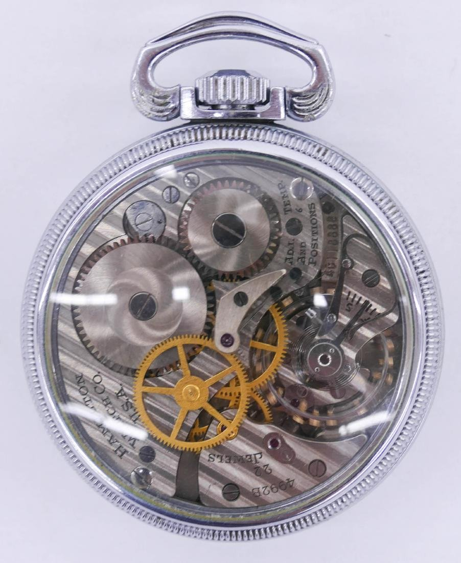 Hamilton 4992B Military Pocket Watch with Exhibition - 2