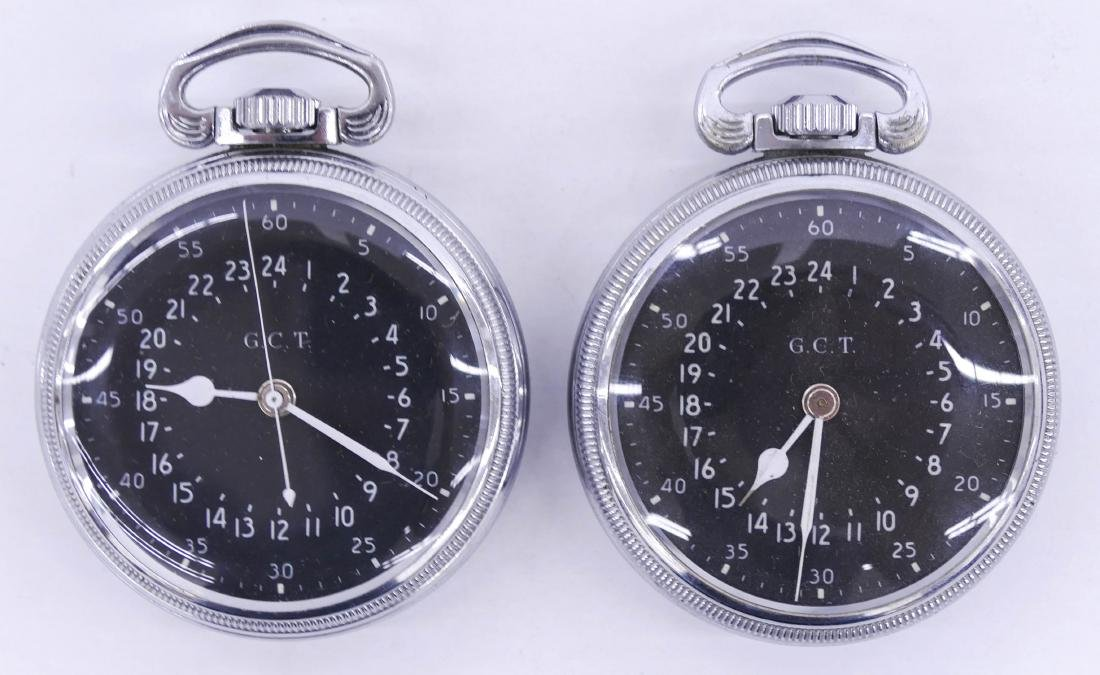2pc Hamilton 4992B Military Pocket Watches. Serial