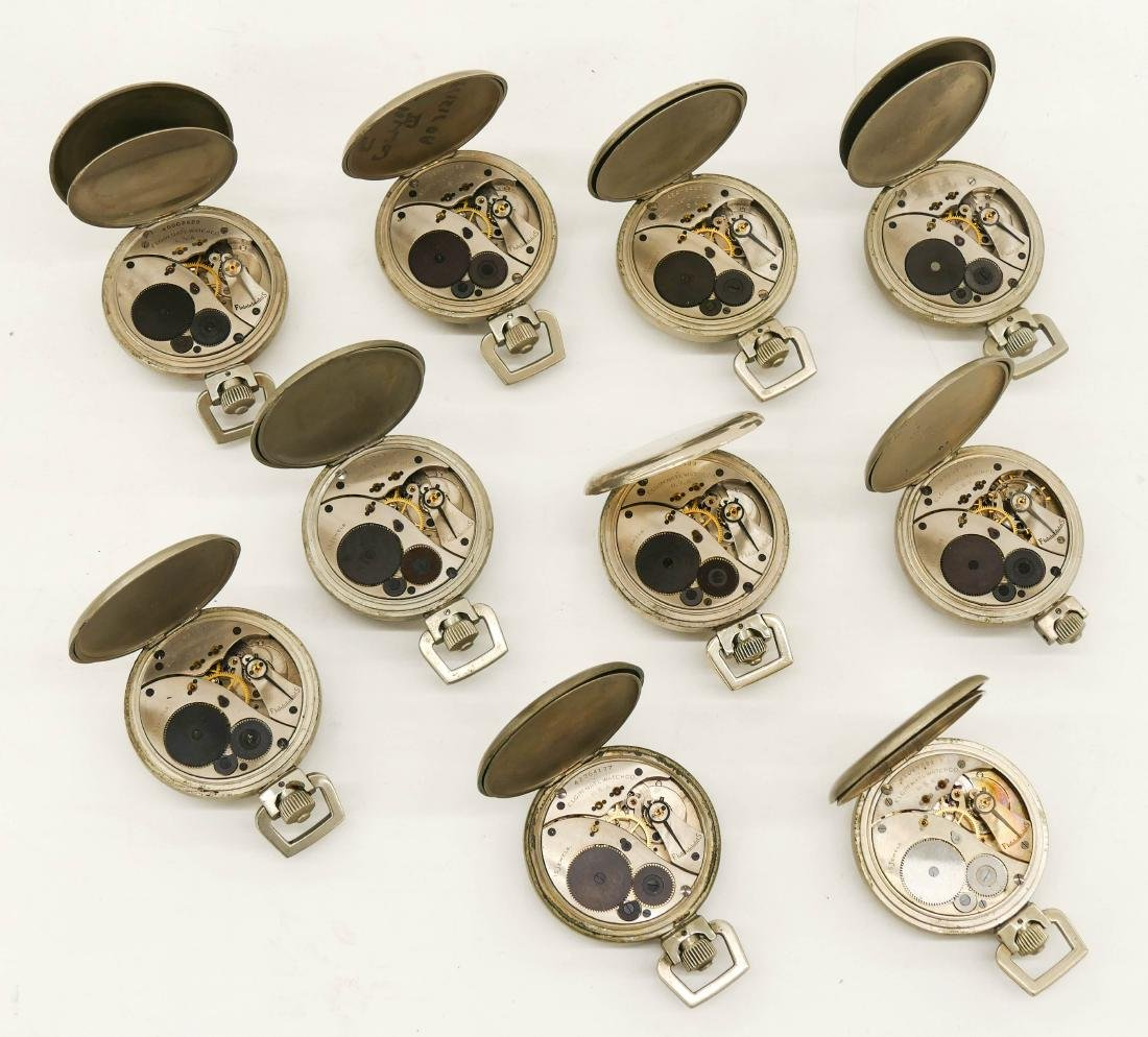 10pc Elgin Military Type  A-8 Stop Watches. Manual 15 - 2