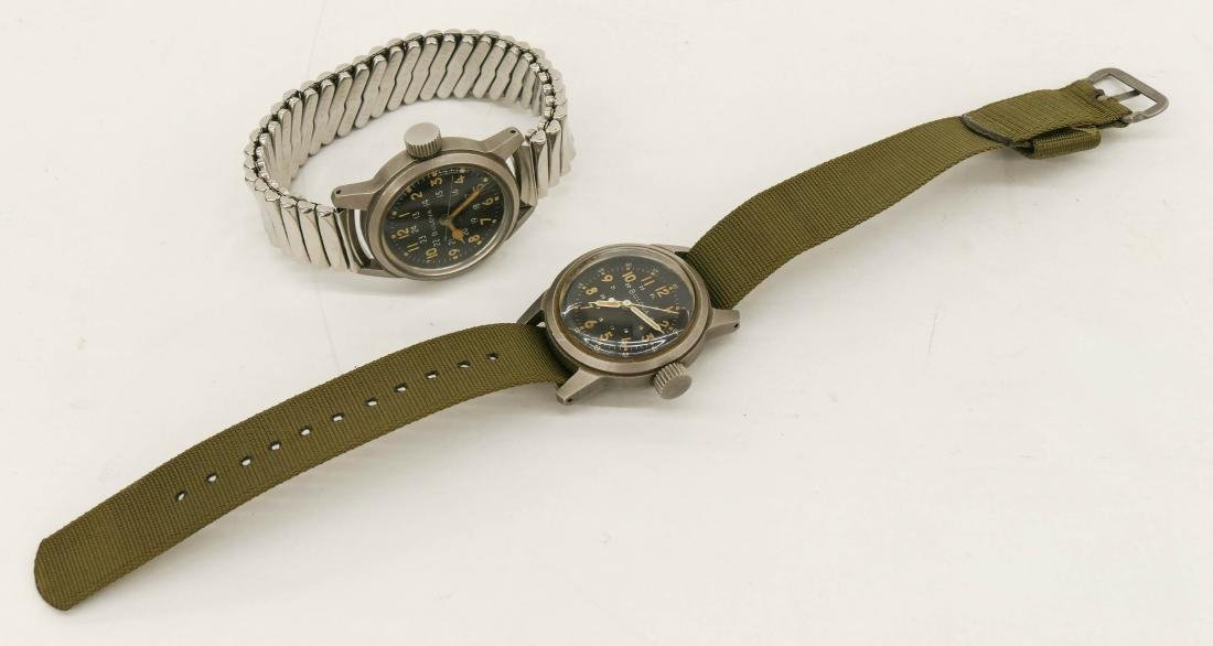 2pc Bulova Military Wrist Watches. Includes a Type - 3