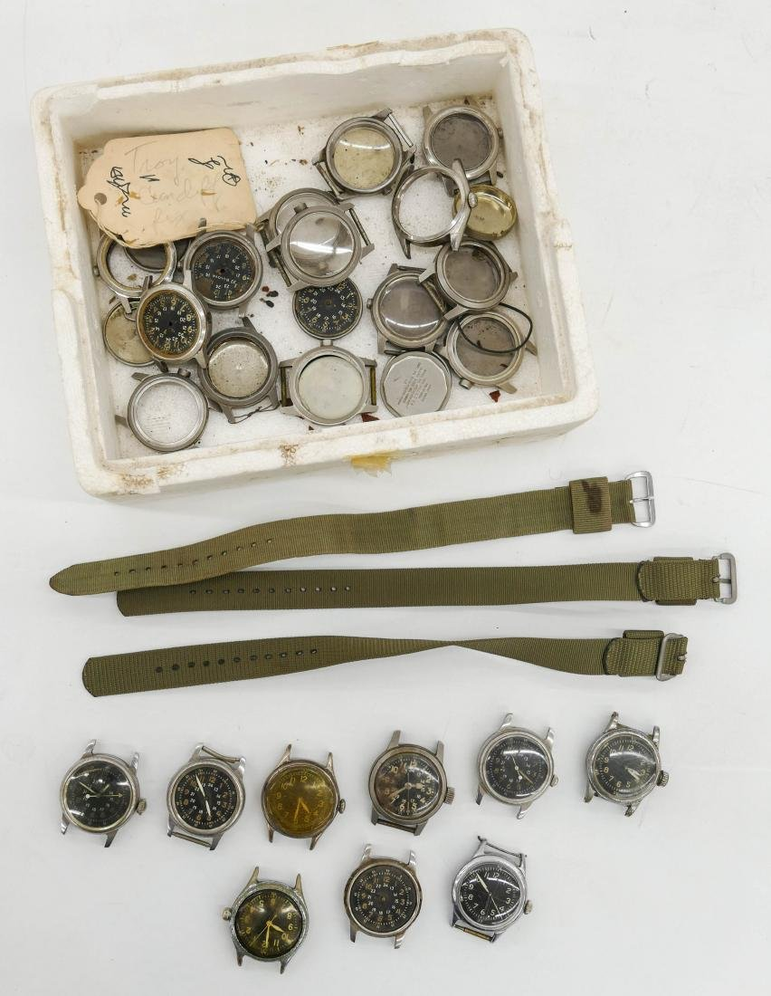 Group of Vintage Military Wrist Watches & Parts.