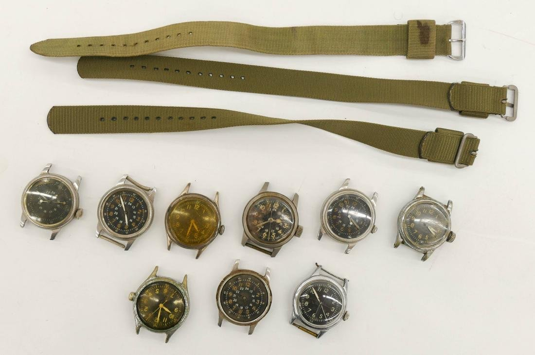 Group of Vintage Military Wrist Watches & Parts. - 2