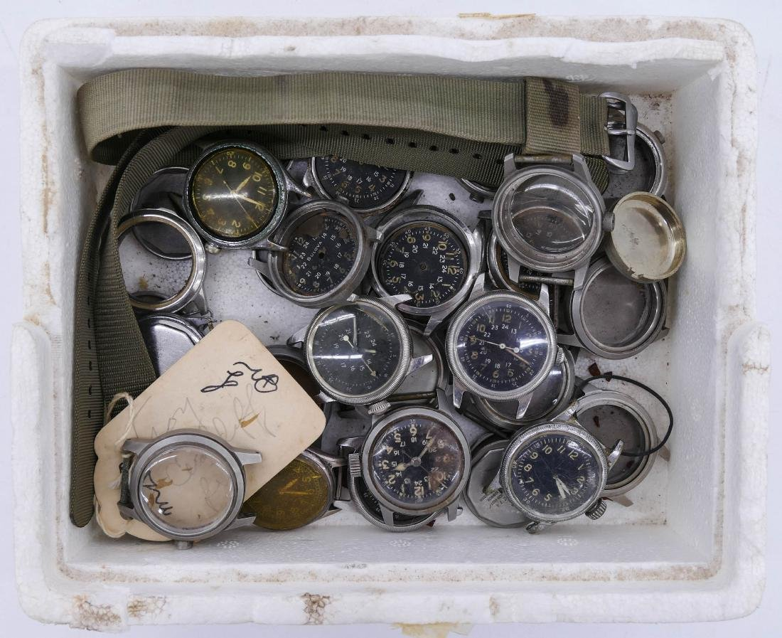Group of Vintage Military Wrist Watches & Parts. - 3