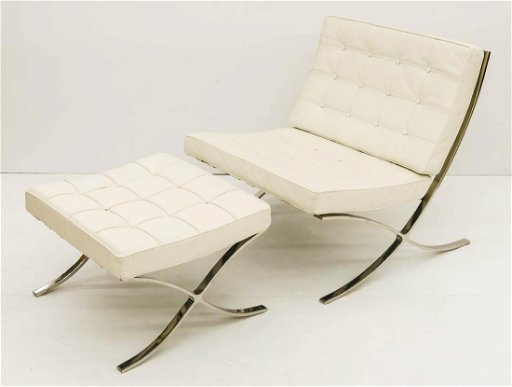 Fabulous Mies Van Der Rohe Style Barcelona Chair Ottoman Caraccident5 Cool Chair Designs And Ideas Caraccident5Info