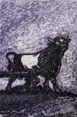 Richard Gilkey (1925-1997 Washington) ''Durham Bull -