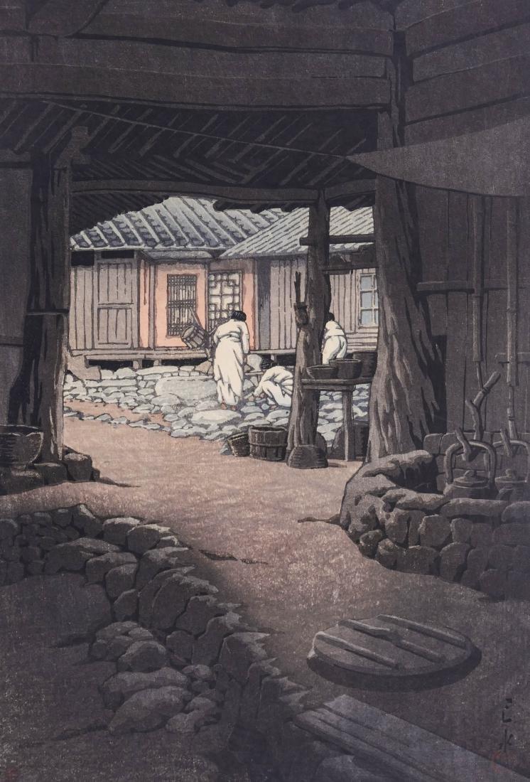 Kawase Hasui ''Chunum Temple'' Japanese Woodblock Print
