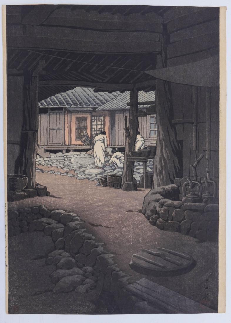 Kawase Hasui ''Chunum Temple'' Japanese Woodblock Print - 2