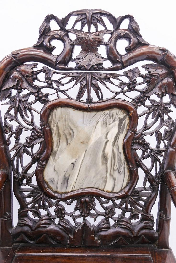 Pair of Fine Chinese Rosewood Armchairs - 3