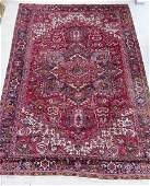 Semi Antique Heriz Oriental Room Size Rug