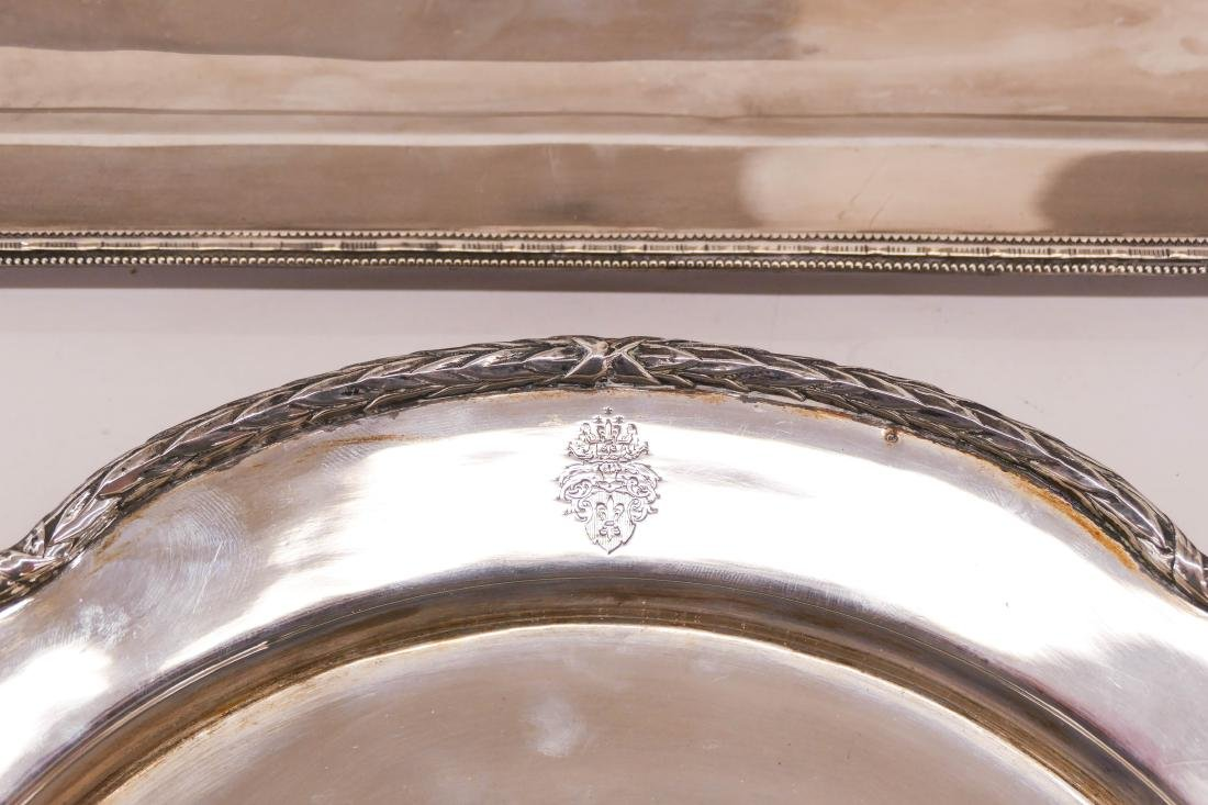 2pc Continental 800 Silver Serving Trays. Includes a - 2