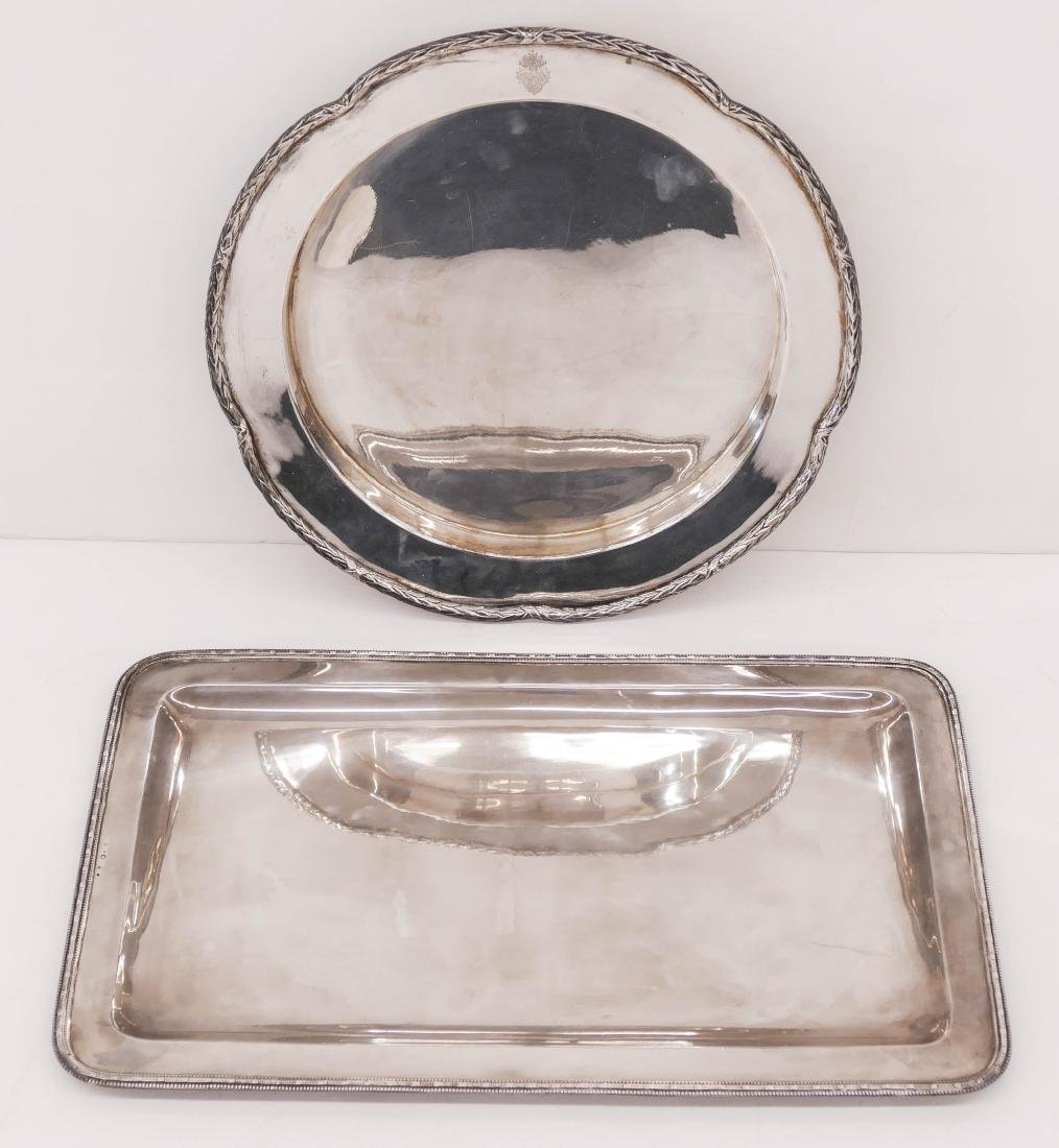 2pc Continental 800 Silver Serving Trays. Includes a - 3