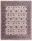 Persian Floral Oriental Room Size Rug 8x10 Ivory