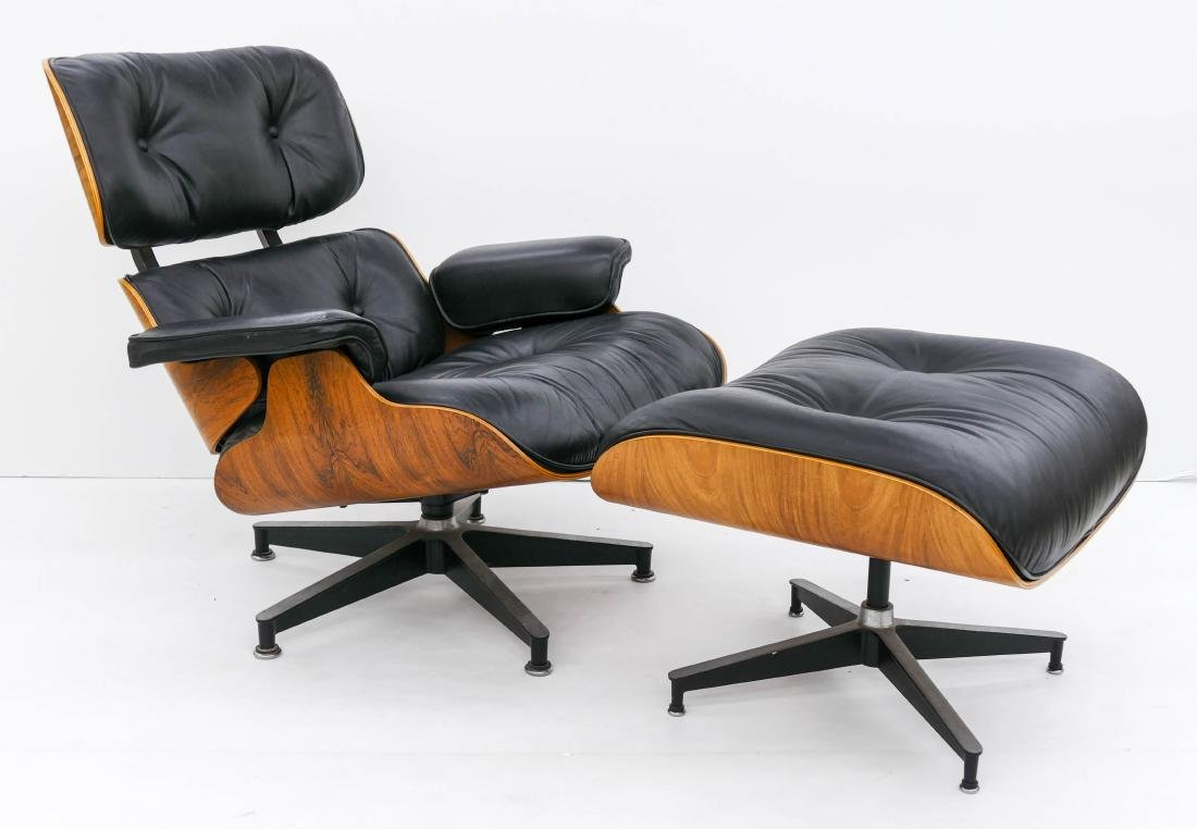 Eames for Herman Miller Lounge Chair & Ottoman. An - 5