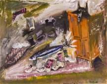 James Martin (b.1928 Washington) ''Argyles with Fish''