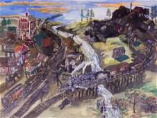 James L. Miller (b.1944 Washington) Untitled Railway