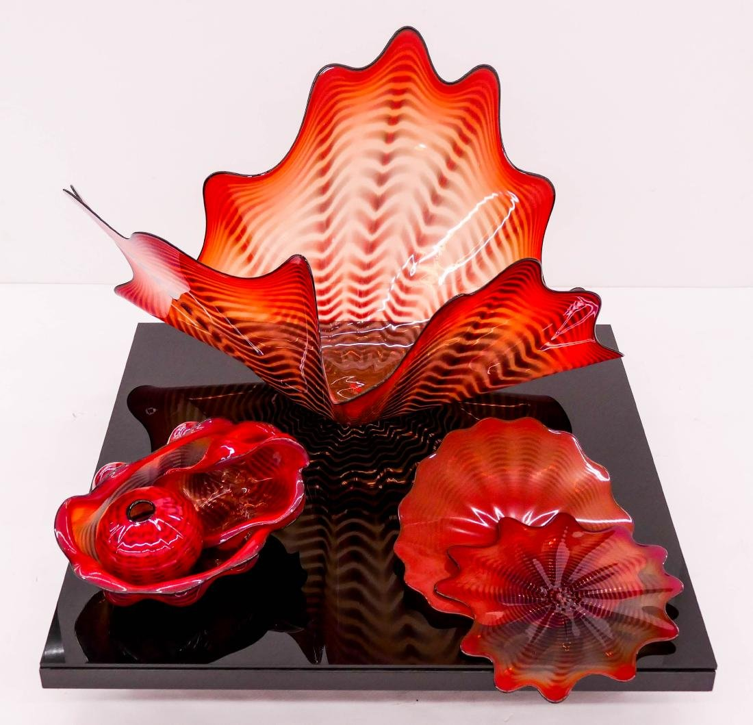 Dale Chihuly (b.1941 American) Fire Coral Persian - 6