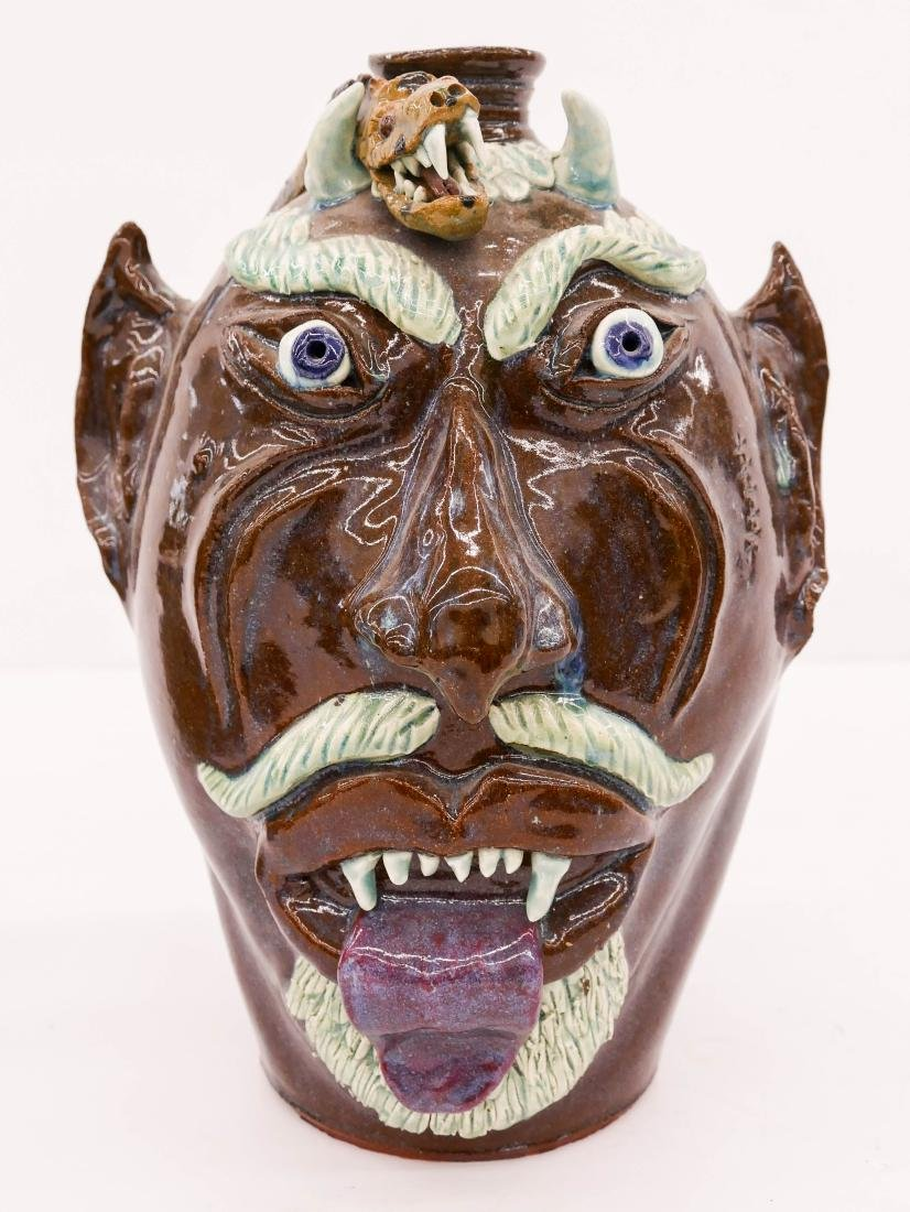 Albert Hodge (b.1941 American) Devil's Head with Snake