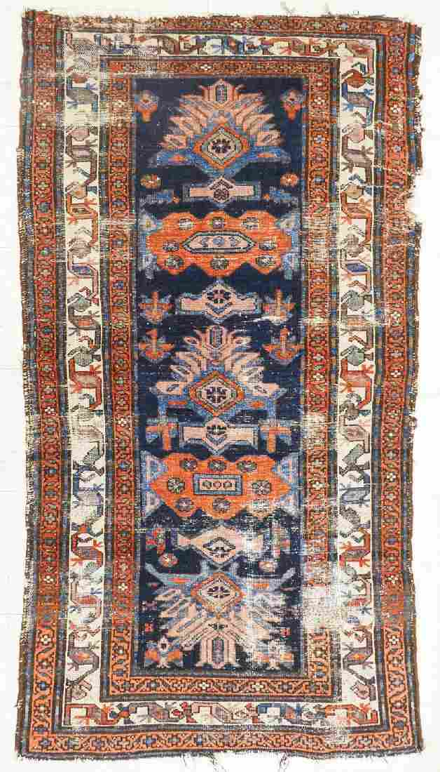 3pc Antique Oriental Rugs. Includes a large geometric