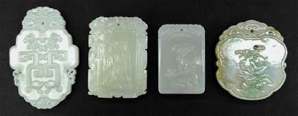 4pc Fine Chinese Jade Pendants.