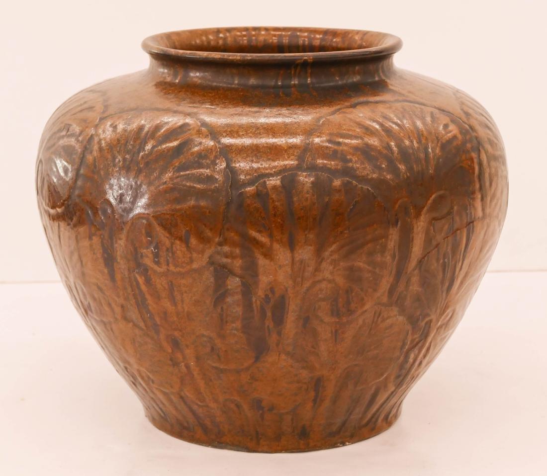 Japanese Arts & Crafts Large Pottery Vase 13.5''x15''. - 2