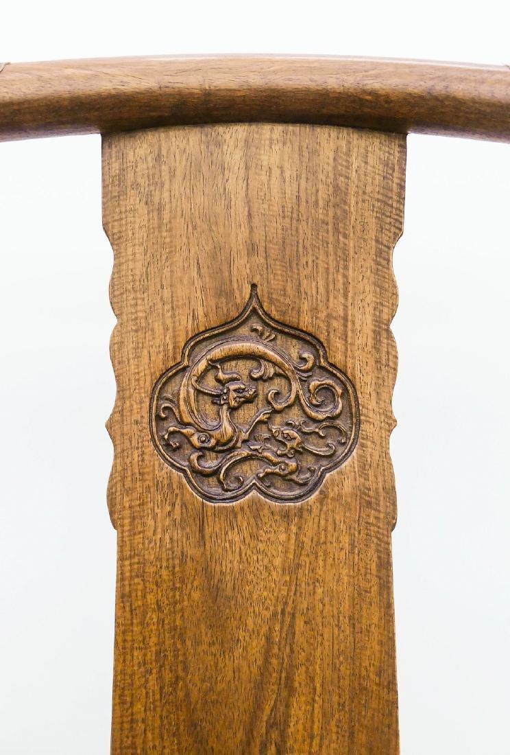 Chinese Huali Horseshoe Chair & Table Set. - 4