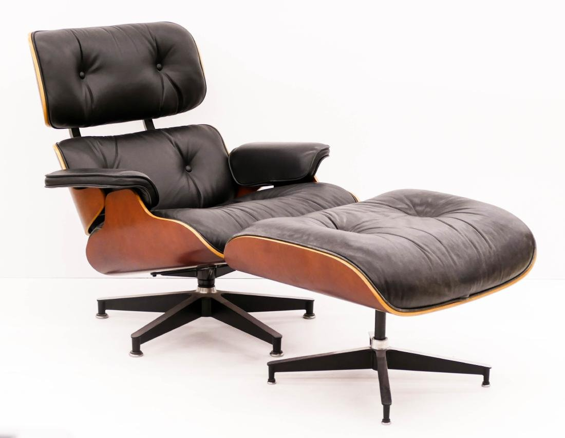 Eames for Herman Miller Cherry Lounge Chair &