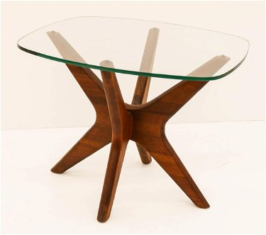 Adrian Pearsall Walnut Side Table 18 5