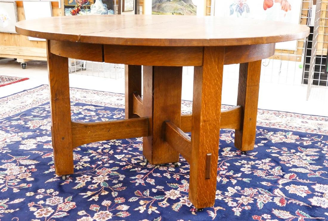 Gustav Stickley #634 Round Dining Table 29.5