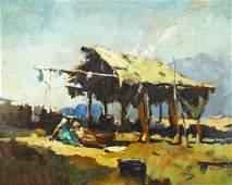 Eustace Ziegler (1881-1969 Alaska) ''Indians Drying