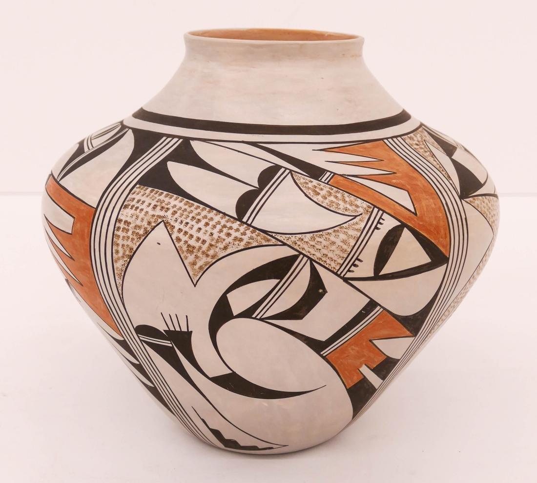 Fawn Navasie Hopi Polychrome Pottery Jar 9''x10''.