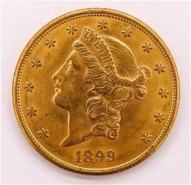 1899-S US $20 Dollar Liberty Head Gold Piece