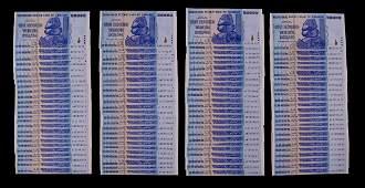 100pc Zimbabwe 2008 Consecutive Uncirculated 100