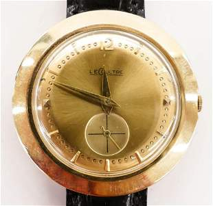 Vintage LeCoultre 14k Men's Wristwatch. Serial number