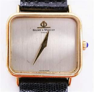 Vintage Baume & Mercier 18k Men's Wristwatch. Model BM