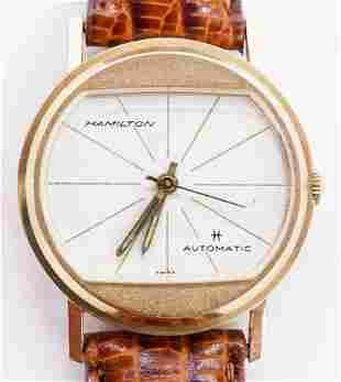 Vintage Hamilton Automatic 14k Men's Wristwatch in Box.