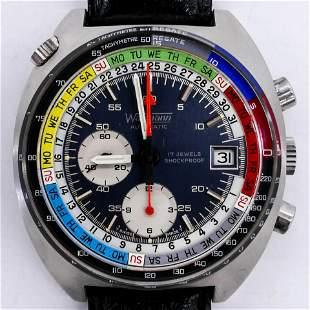Vintage Wakmann Regatta Chronograph Wrist Watch.