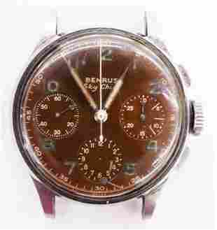 Vintage Benrus Sky Chief Chronograph Men's Wristwatch.