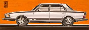 Vintage Mercedes Benz ESF13 Original Concept Car Art by
