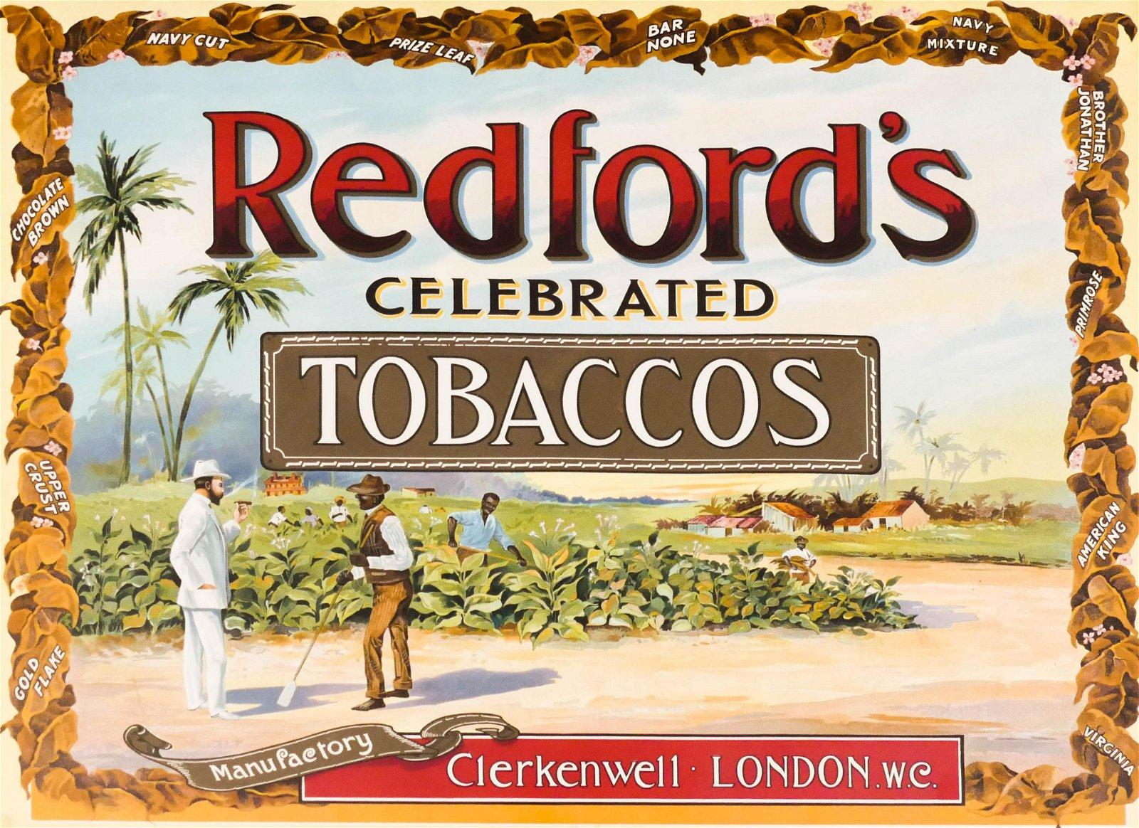 Antique Redford's Tobacco Black Americana Advertising