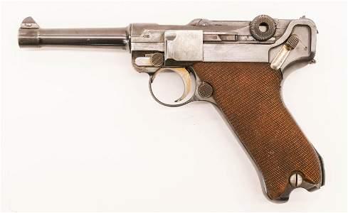 Vintage Mauser Luger P-08 Pistol 8.5''. Serial number