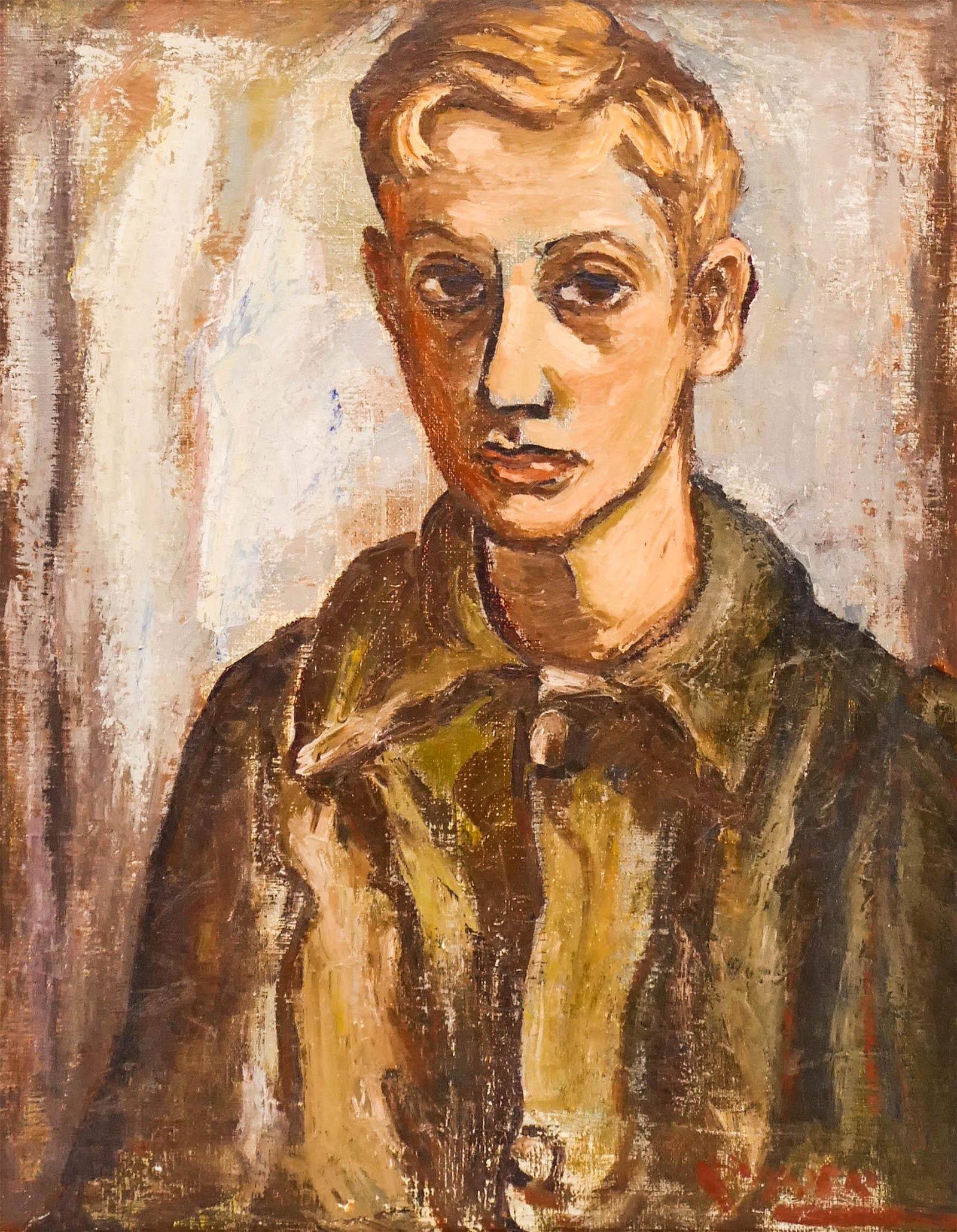 Amanda Tester Snyder (1894-1980 Oregon) ''Paper Boy
